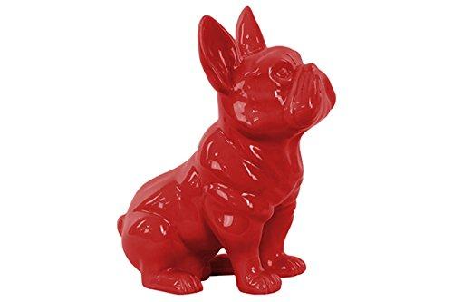 Urban Trends 38459Keramik Figur Französische Bulldogge sitzend mit Pricked Ohren rot glänzend Finish (Ohren Bulldogge Französische)