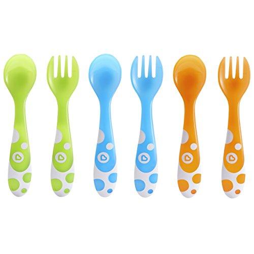 Munchkin 6 Multi Coloured Forks & Spoons