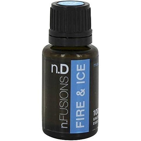 Nature's Fusions - fuego y hielo terapéutico aceite esencial mezcla de músculo - 15 ml.