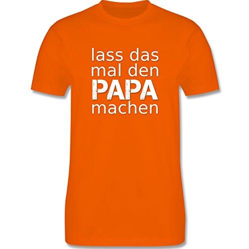 Vatertag - Lass das mal den Papa machen - Herren Premium T-Shirt Orange