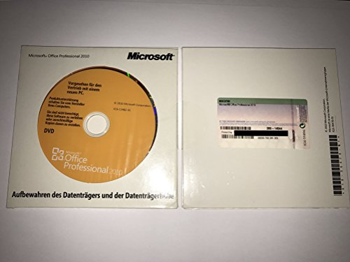 Microsoft Office Professional 2010 deutsch inkl. DVD