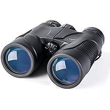 K&F Concept Prismáticos Impermeables 10x42 HD Binoculares Profesionales Ligeros con BaK-4 Prisma Lentes Multicapa