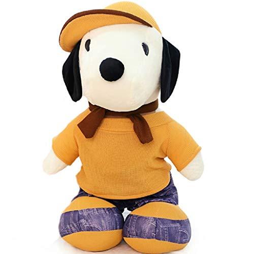 Zhijie Muñeca del Perro de Juguete de Peluche Snoopy con Ropa Amarilla, Regalo de 23.6 Pulgadas