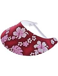"""XFORE visière soleil """"Scarba"""" casquette de golf sport tennis pour femmes avec motif floral, taille unique"""