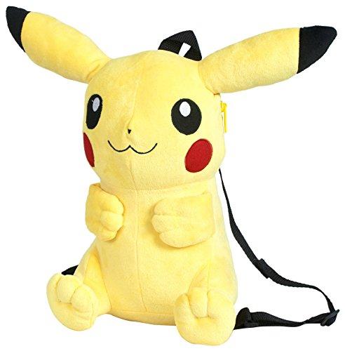 Pokemon - Mochila, peluche Pikachu, 30 cm, color amarillo (Famosa 760015201)