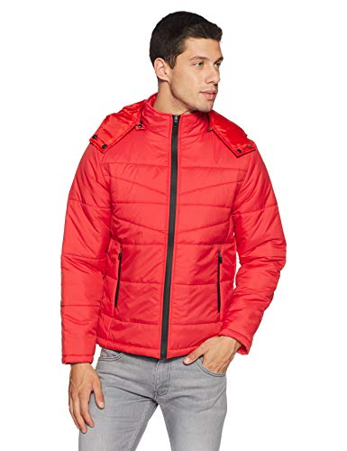 Qube By Fort Collins Men's Quilted Jacket (G 123 SMU_Red_L)