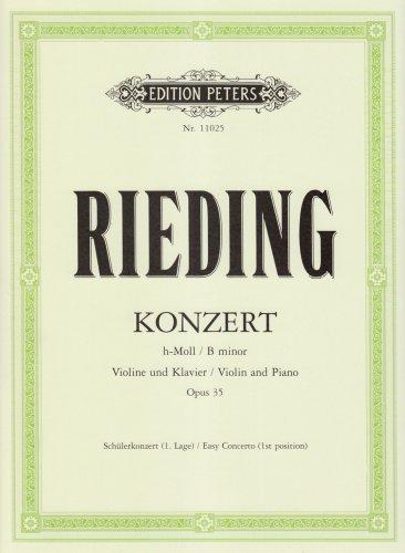 Konzert h-Moll op. 35: Schülerkonzert 1. Lage / für Violine und Klavier