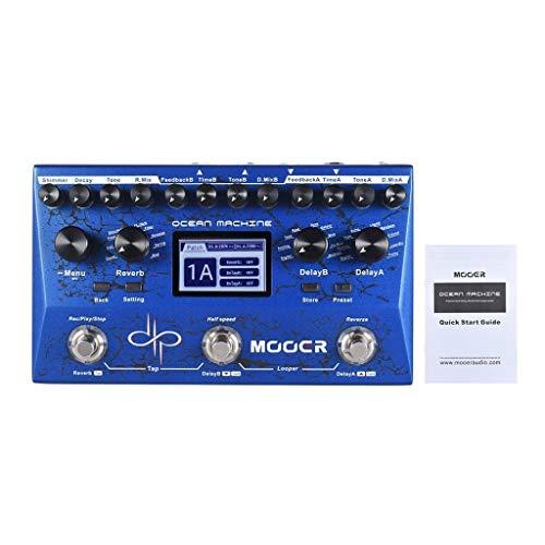 Gitarren-Effektgerät Dual Delay + Reverb + Looper Multi-Effektpedal 15 Arten von Verzögerungseffekten 9 Reverb-Effekte - Pedal Guitar Gate Noise