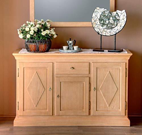 casamia Anrichte Sideboard Grande Holzfront, 3 Türen und 1 Schublade Farbe Pinie lipizano