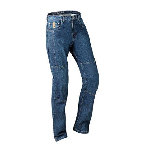 Preisvergleich Produktbild Lookwell Jeans Joan Herren Motorrad Reiten Hose,  Short Leg,  Dunkelblau,  Größe 38