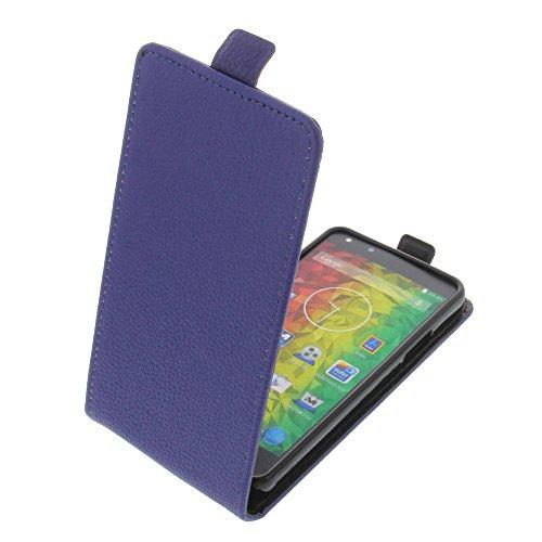 foto-kontor Tasche für MEDION Life X5001 Smartphone Flipstyle Schutz Hülle blau