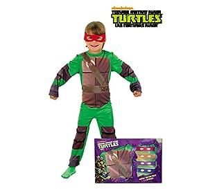 Disfraz de Tortuga Ninja en caja para niño, infantil 8-10 años (Rubie