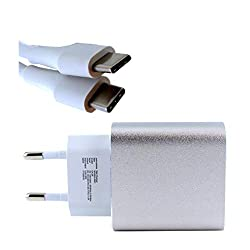 Google Pixel Ladegerät CA-29 - USB Type-C - 3 Ampere - Euro Fast Charger - Silver/White