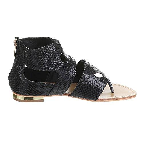 Ital-design, Sandales Pour Femmes Black (noir)