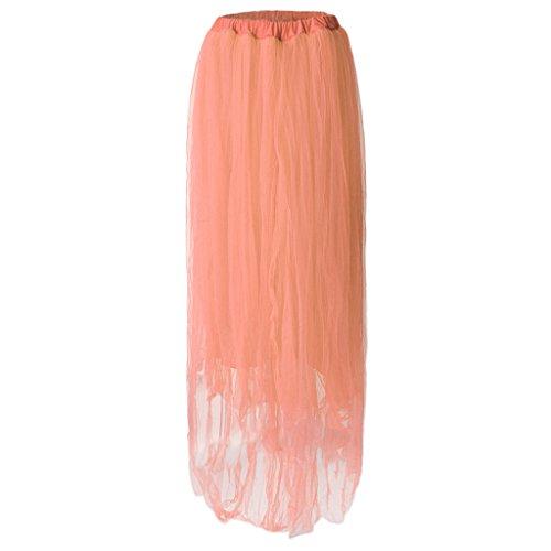 Sharplace Schwangerschafts Kleid Organza Fotografie Rock Tüllrock Unterrock Schwangere Frauen Fotoshooting Requisiten - Hell-Pink, wie beschrieben