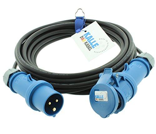 CEE-Gummiverlängerung H07RN-F 3G 1,5 mm² 20 m von KALLE DAS KABEL - 20 Kabel