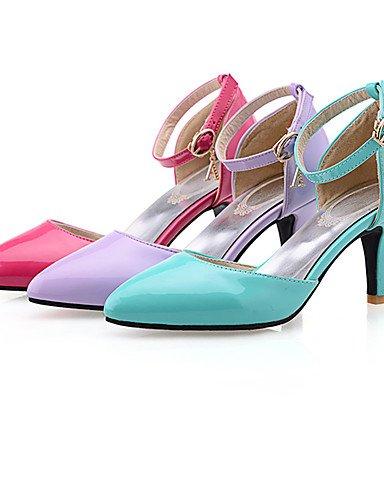 WSS 2016 Chaussures Femme-Mariage-Bleu / Violet / Rouge-Talon Aiguille-Bout Pointu / Bout Fermé-Talons-Polyuréthane blue-us7.5 / eu38 / uk5.5 / cn38