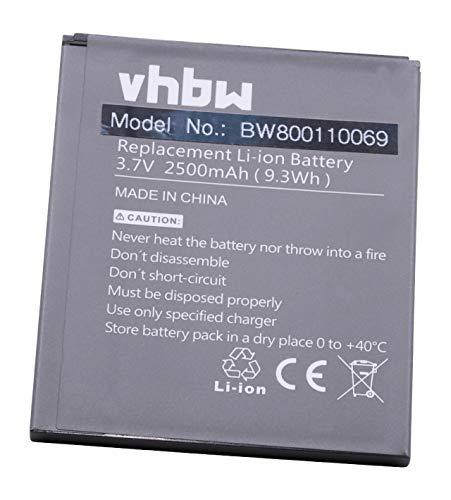 vhbw litio-polimeri batteria 2500mAh (3.8V) per cellulari e smartphone Komu K5