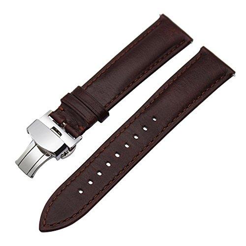 TRUMiRR kompatibel Für Nokia Steel HR 36mm Armband, 18mm Uhrenarmband Quick Release Echtes Leder Armband für Huawei Watch, Asus Zenwatch 2 Women 1.45'',Withings Activite/Steel HR 36mm,Fossil Q Tailor -