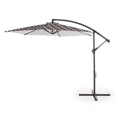 Home Kraft Lumi Modern ombrellone sole ombrello parasole da giardino 300cm manovella