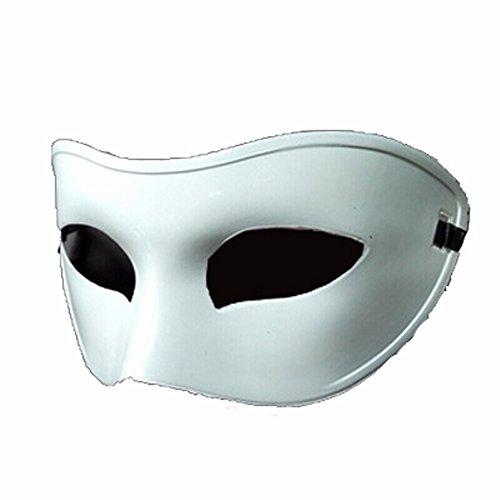 ParttYMask Maskerade,SchwarzWeiss-halbes Gesicht Maske männlicher und weiblicher Retro- Ball Maske weiß ()