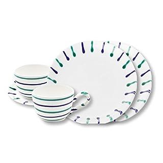 Gmundner Keramik Manufaktur 0104STSC06SET traunsee Breakfast for Two Classic,