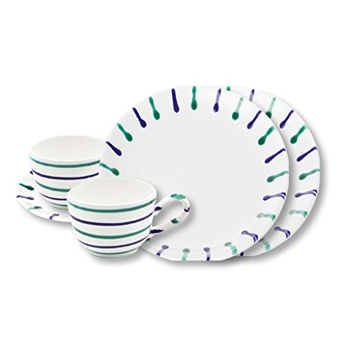 Gmundner Keramik Manufaktur 0104STSC06SET traunsee Breakfast for Two Classic,