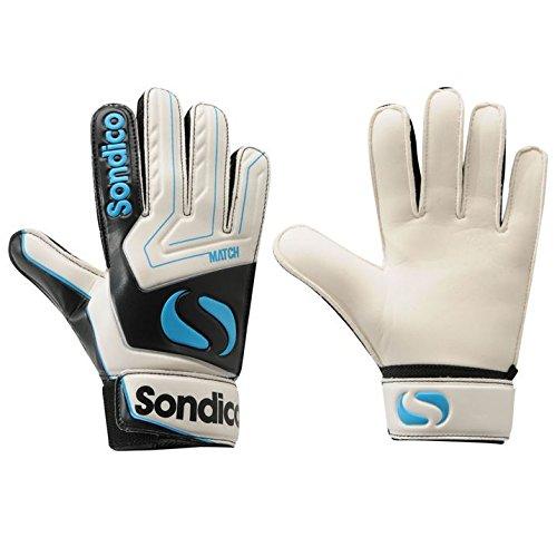41Arc61KJ5L - BEST BUY #1 Sondico Kids Match Goalkeeper Gloves Junior White/Blk/Blue 6 Reviews and price compare uk