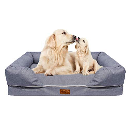 wasserdichte orthopädische Memory Foam Hundebett, herausnehmbar, waschbar, geeignet für mittlere und große Hunde - Memory-foam-hundebett Waschbar