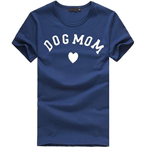 ✿✿JiaMeng Sport locker T-Shirt Damen Sommer Strand Tops weich Camping Freizeit t Shirt Rundhals Outdoor Stilvoll blusen Dog ()
