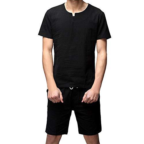 Mitlfuny Karnevalsparty Fancy Festival Zubehör,Zwei Stücke Männer Casual Slim Kurzarm Shirt Top Bluse Hosen Sets