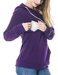 Camisa De Maternidad De Enfermería Camisa De Maternidad Maternidad Vintage  De Sudadera De Enfermería Con Capucha f9e1925abfee9