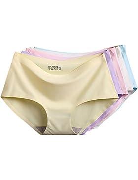 5 Piezas Bragas Braguita Pantalones de mujer Invisible,TININNA Sin Costuras Señoras Ropa Interior con Multicolor,XL