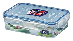 Lock & Lock airtight storage container Rectangular Food Container, 550ml, 181x 128x 52mm Pack of 6, Clear