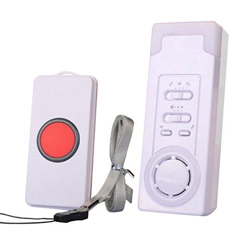 EgoEra reg; Haus Wireless Pager Notfall Drahtlose Alarmanlage/Türklingel Drahtlos/Funkalarmanlage Set für Geduldig älterer Mann, 1 in 1