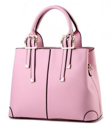 HQYSS Borse donna Ladies in pelle PU Borsa a tracolla a spalla , rose red pink
