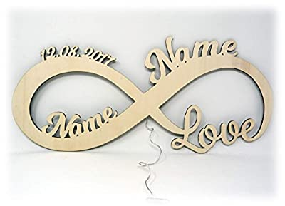 Liebeslicht Valentinstagsgeschenk Infinity I personalisiert mit Namen I Das perfekte Liebesgeschenk zum Valentinstag, Geburtstag oder Jahrestag für Frau Mann Freund Freundin Paare Männer Frauen von Schlummerlicht24