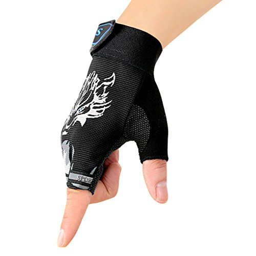 Fahrradhandschuhe Sporthandschuhe Halbfinger Handschuhe Fingerlos Radfahren Handschuhe für Camping Sport Outdoor (Kind Orange Handschuhe)