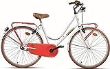 26 Zoll Damen Holland Fahrrad Montana Sport, Farbe:weiß-rot