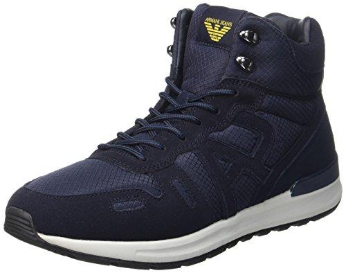 Armani Hiking, Sneaker a Collo Alto Uomo Blau (Dark BLU/BLU)