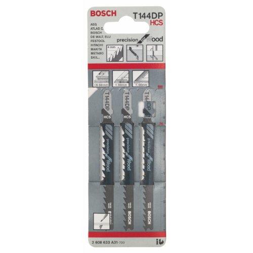 Bosch 2608633A31 Stichsägeblatt 3 Stichsägeblätter T 144 DP