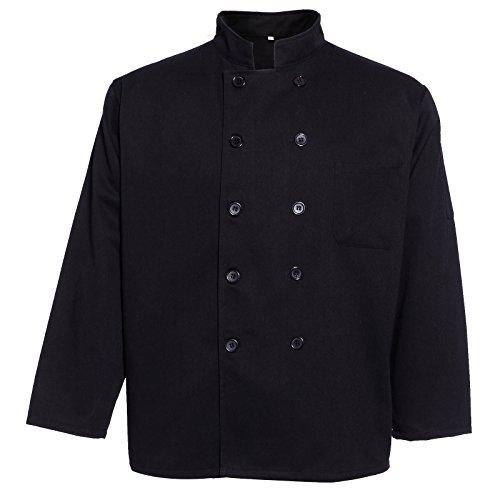 Giacca Cuoco vestiti Gastronomie baeckerj Acke panettiere giacca nero bianco nero con grande o piccolo bottoni a maniche lunghe/manica corta S M L XL