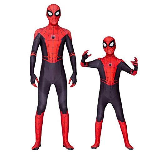 Männlich 118 Kostüm - Wiokslms Kinder Halloween Kostüm Spider-Man Cosplay Kostüm Geburtstagsfeier Geschenk,A-(110-119cm)
