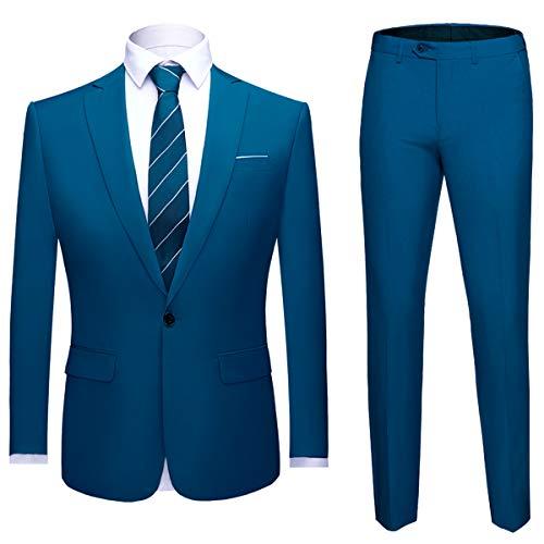 Herren 2-Teilig Anzug Slim Fit für Hochzeit und Party 37c6bb0bc11