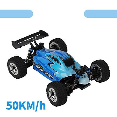 Qiulv 1/18 rc auto 2.4 g radio controllo off road buggy 50 km/h alta velocità camion 4wd guida motori unità remoto modello veicolo per bambini e adulti,blue