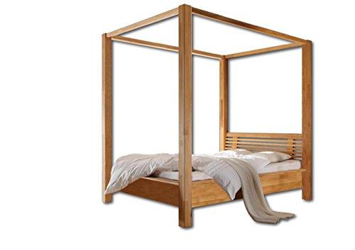 SAM® Himmelbett Tanja Kernbuche 140x200 cm mit Kopfteil Massivholz