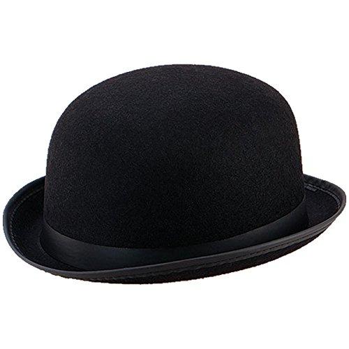 (Spassprofi Melone Schwarzer Bowler Hut für Hochzeiten Reiterhut Butlerkostüme Karnevalshut)