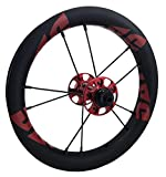 DATI S8C-CSW Push Kids Balance Bike Bicycle Super Light Wheels Carbon Rim12 Set (Red/Red Logo, Strider :95 * 8MM)