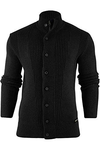 Brave Soul Herren Pullover Black | Cardigan