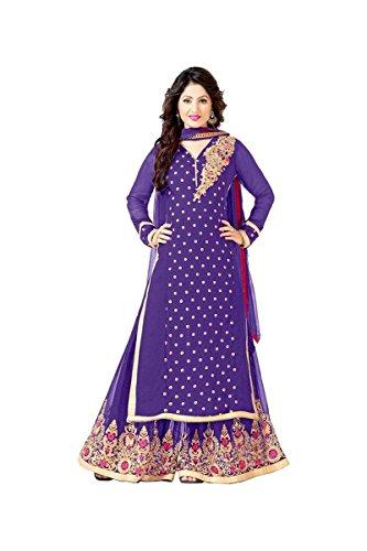 Sainent Spacial Purple Plazo Semi Stitched Suit Suit salwar suits for women salwar suit salwar suits for women stitched salwar suits for women anarkali salwar suits for women salwar suits for women patiala salwar for women salwar kameez S8033